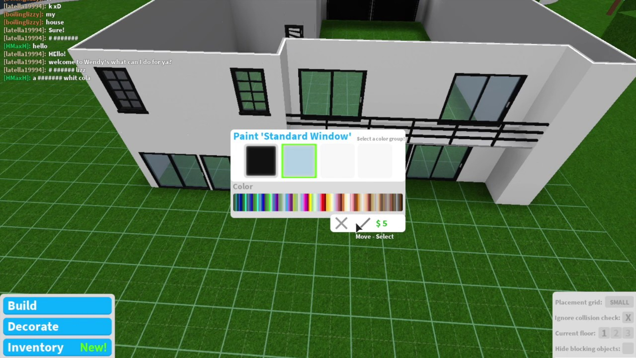Bloxburg Team 10 House Speed Build Youtube