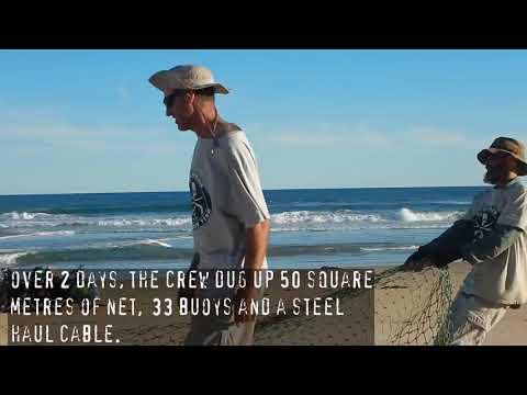 Sea Shepherd Marine Debris Campaign Australia: 162 kgs of net dug out from remote beach in Victoria