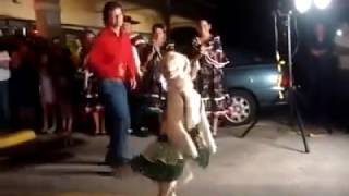 Merengue Dancing Golden Retriever? I thought I've seen it all...