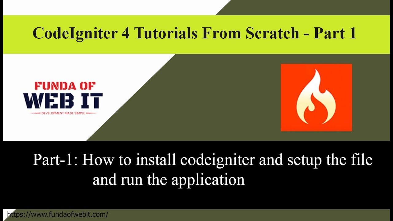 Codeigniter 4 Crash Course