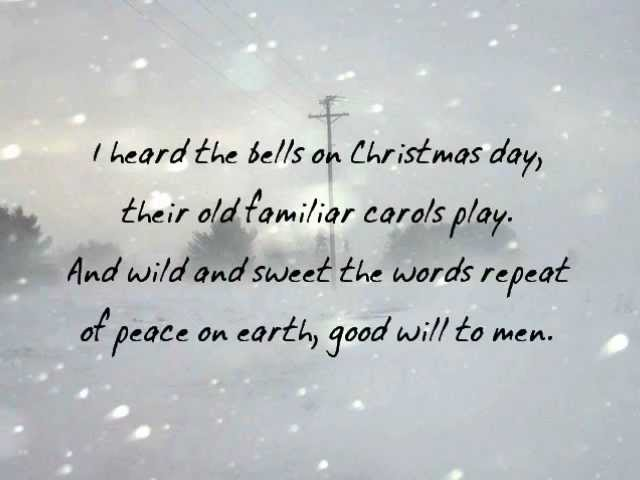 Johnny Cash I Heard The Bells On Christmas Day.For Hate Is Strong And Mocks The Song Of Peace On Earth