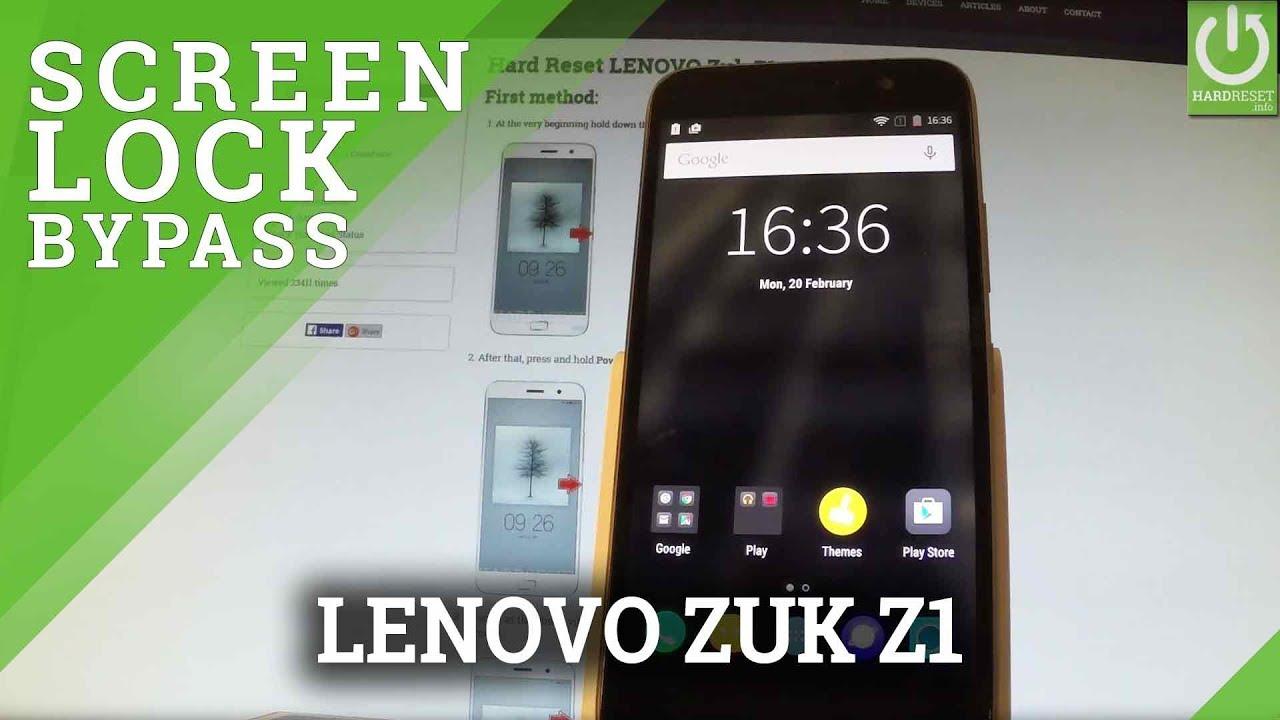 how to change screen lock on lenovo