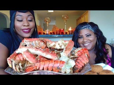 King Crab Mukbang  Eating Show  WE TALK!!!  King crab, lobster, shrimp, snow crabs