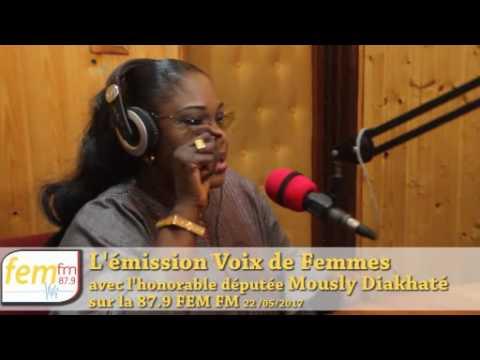 L'honorable député Mously Diakhaté dans voix de femme sur FFEM FM 87.9 Dakar