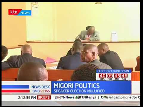 Migori politics: Speaker election nullified