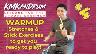 Quick & Easy Warmup Exercises for Drummers of All Levels - KMKanDrum Lesson 4 with *Timestamps*