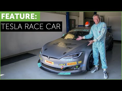 Tesla Race Car! Tiff Needell drives The Electric Tesla GT P100DL