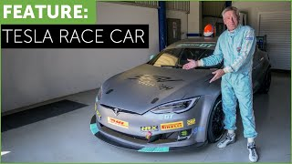 Tesla Race Car! Tiff Needell drives The Electric GT P100DL