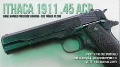 Shooting Vintage 1911 Pistol, .45 ACP, Ithaca
