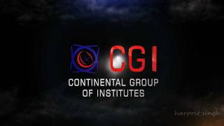 CGI Logo(continental group of institutes) logo animation