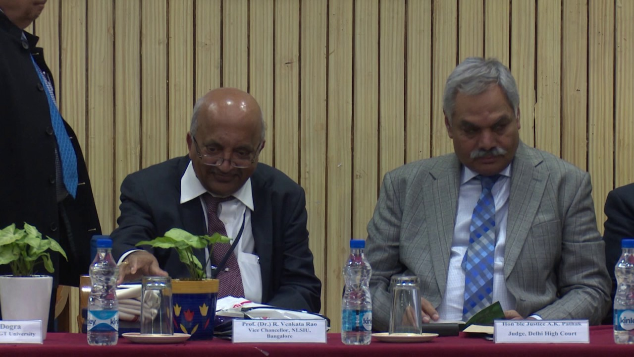 MOU Declaration ceremony between SGT University & National Law School  University, Bangalore