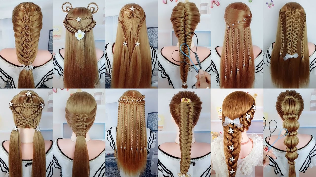 12 Easy & Beautiful Hairstyles For Long Hair #12  Braided Hairstyles For  Girls
