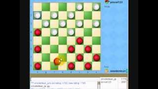 5ht checkers game with great American  player in yahoo games USA