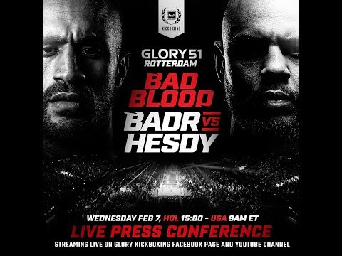 GLORY 51 Rotterdam: Official Press Conference