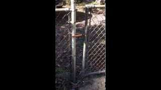 Simple Easy Fix For A For A Misaligned Chain Link Gate Modify Fork Latch $10 & 10 Minutes