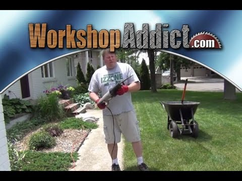 Landscaping Trick --- Lawn edging with a reciprocating saw