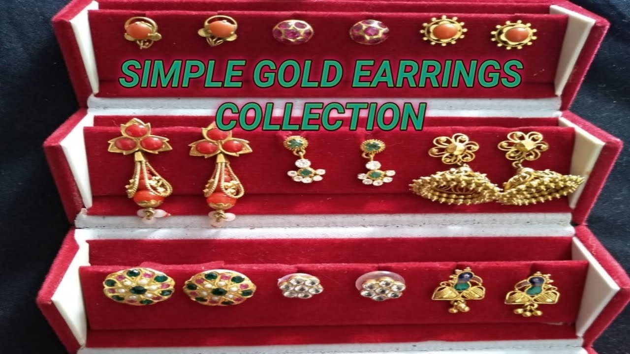 My Simple Light Weight old Gold Earrings Collection