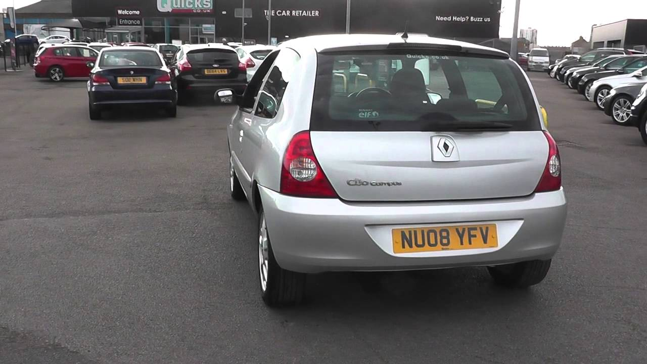 renault clio 1 2 16v campus sport 2007 3dr u206900 youtube. Black Bedroom Furniture Sets. Home Design Ideas