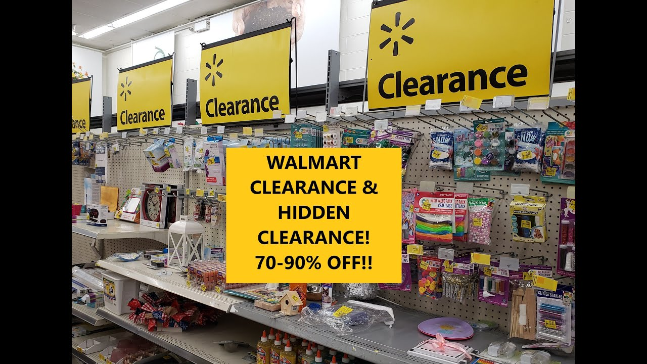 WALMART CLEARANCE & HIDDEN CLEARANCE! 70-90% OFF!!