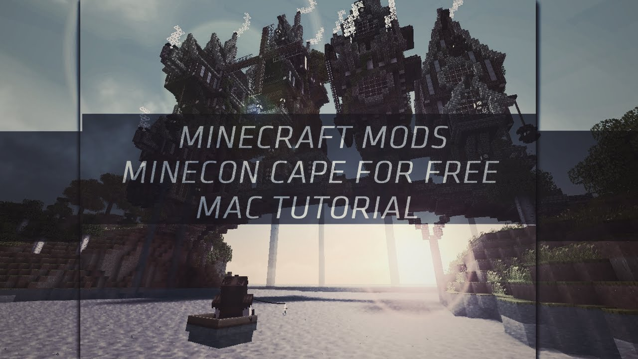 how to put on a minecon cape