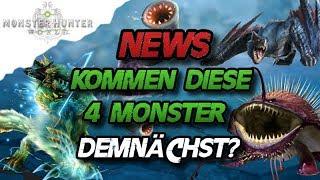 Monster Hunter World - NEWS Kommen die 4 Monster demnächst? - MHW