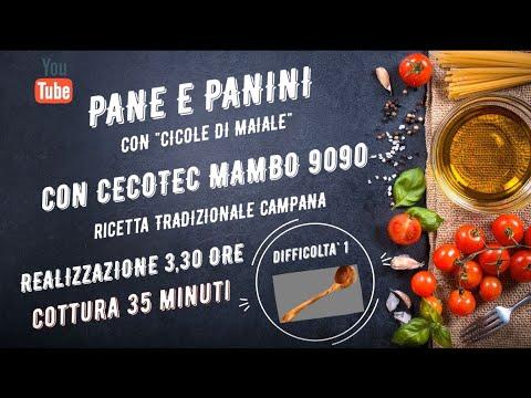 PANE E PANINI CON LE CICOLE DI MAIALE CON CECOTEC MAMBO 9090