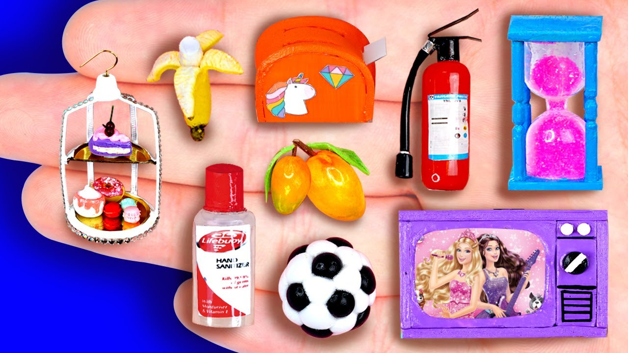 18+ DIY MINIATURE FOODS AND CRAFTS FOR DOLLHOUSE BARBIE