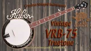 huber vintage vrb 75 truetone banjo demonsration by larry chung