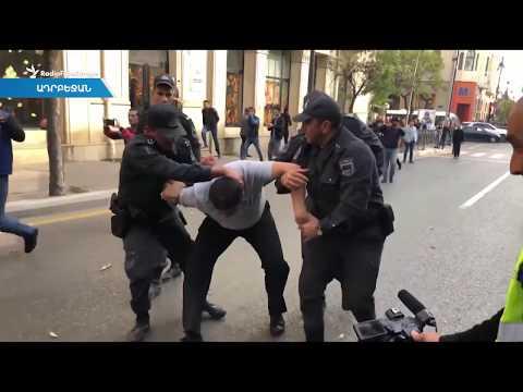 Ցուցարարներին ծեծելու, ձերբակալելու տեսանյութերը «մոնտաժի» արդյունք են. Ադրբեջանի ՆԳ նախարարություն