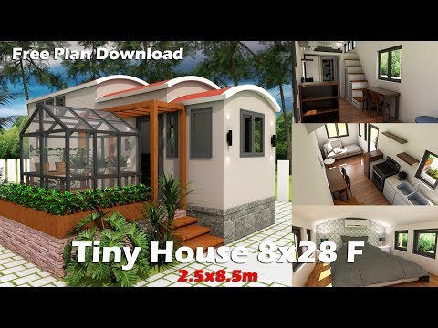 Sketchup Dream Tiny House with Green house and Interior Design