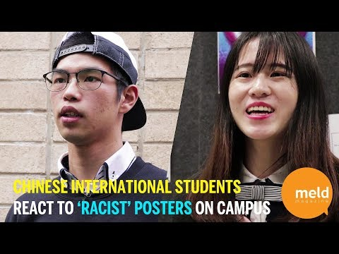Chinese international students targeted by 'racist' posters