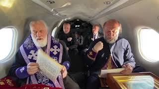 Митрополит Павел совершил облёт границ Беларуси с мощами и молитвами о прекращении коронавируса
