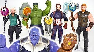 Thanos, dinosaurs appeared! Marvel Avengers Hulk Infinity stone weapon upgrade! - DuDuPopTOY