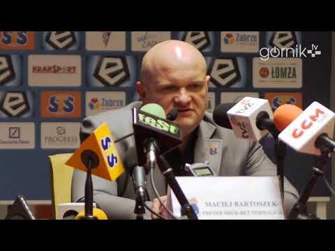 Górnik 3-0 Bruk-Bet Termalica. Pomeczowa konferencja prasowa: Maciej Bartoszek