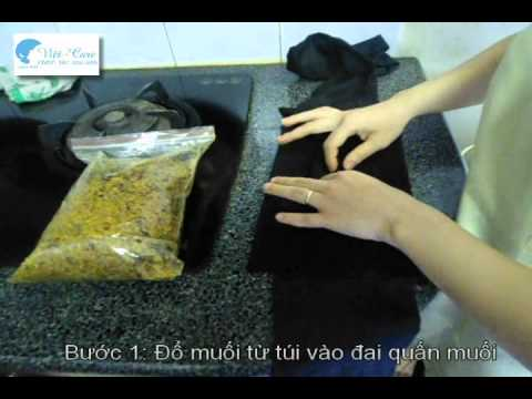 giảm eo sau sinh bằng túi muối thuốc bắc - hướng dẫn cách rang muối tại nhà