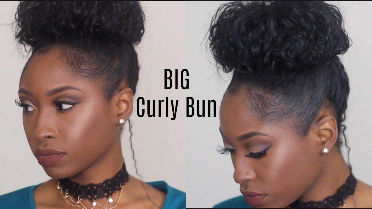 Big Curly Bun Hack With Short Medium Natural Hair All