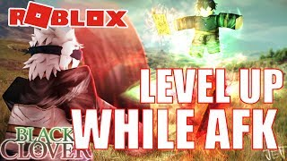 WIE AUF LEVEL UP ALLE STATS WHILE AFK!! Clover Online | ROBLOX