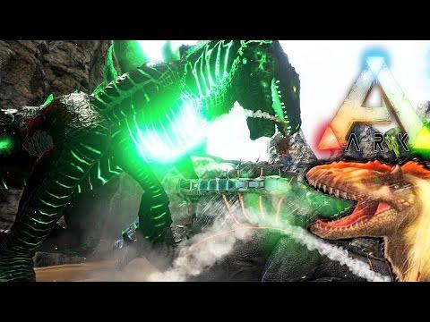 ARK Survival Evolved - GODZILLA VS SPINEBREAKER THE HOPE ENDER, YUTYRANNUS ROAR EFFECT? ( Gameplay )