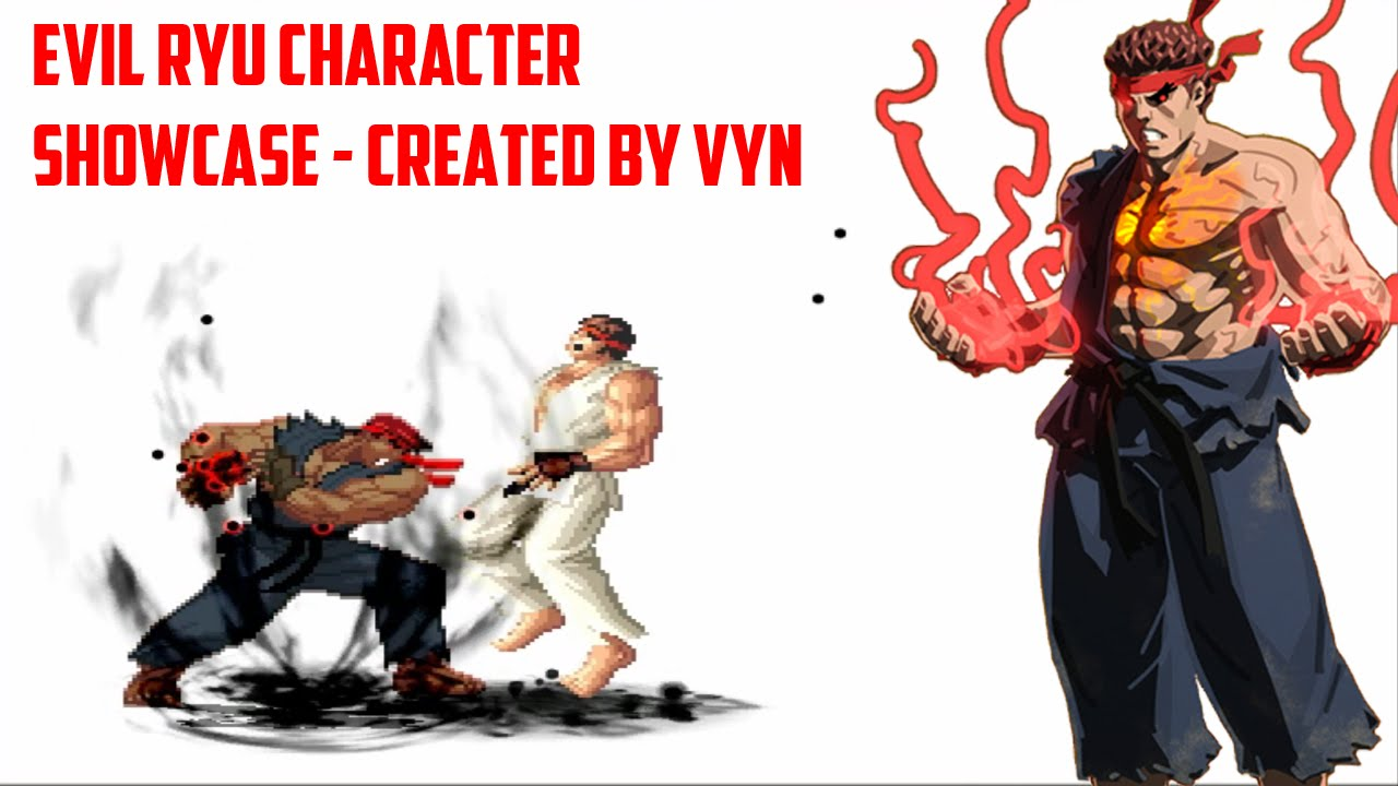 [Mugen HD] Evil Ryu Character Showcase - Created by Vyn