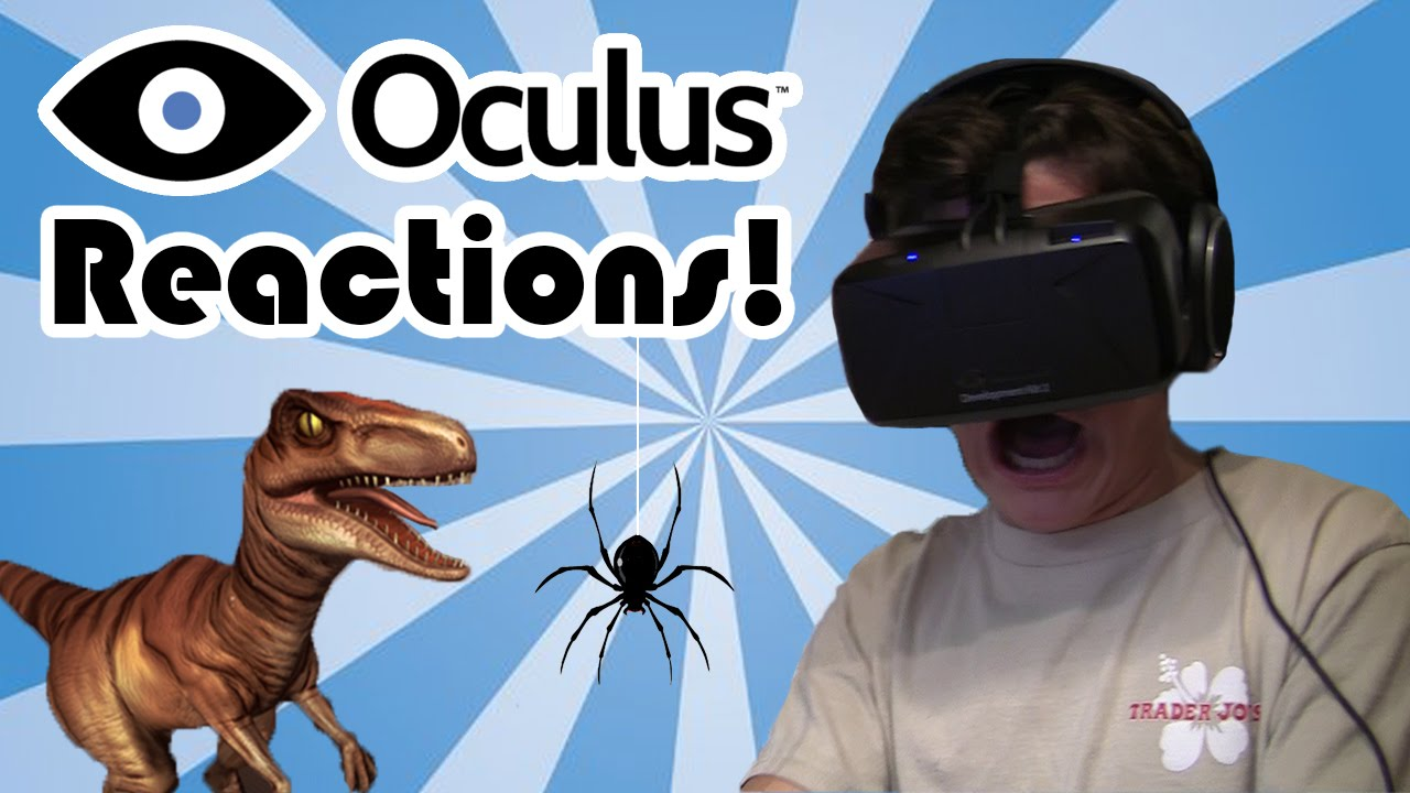 Oculus rift reactions college kids are afraid of dinosaurs and