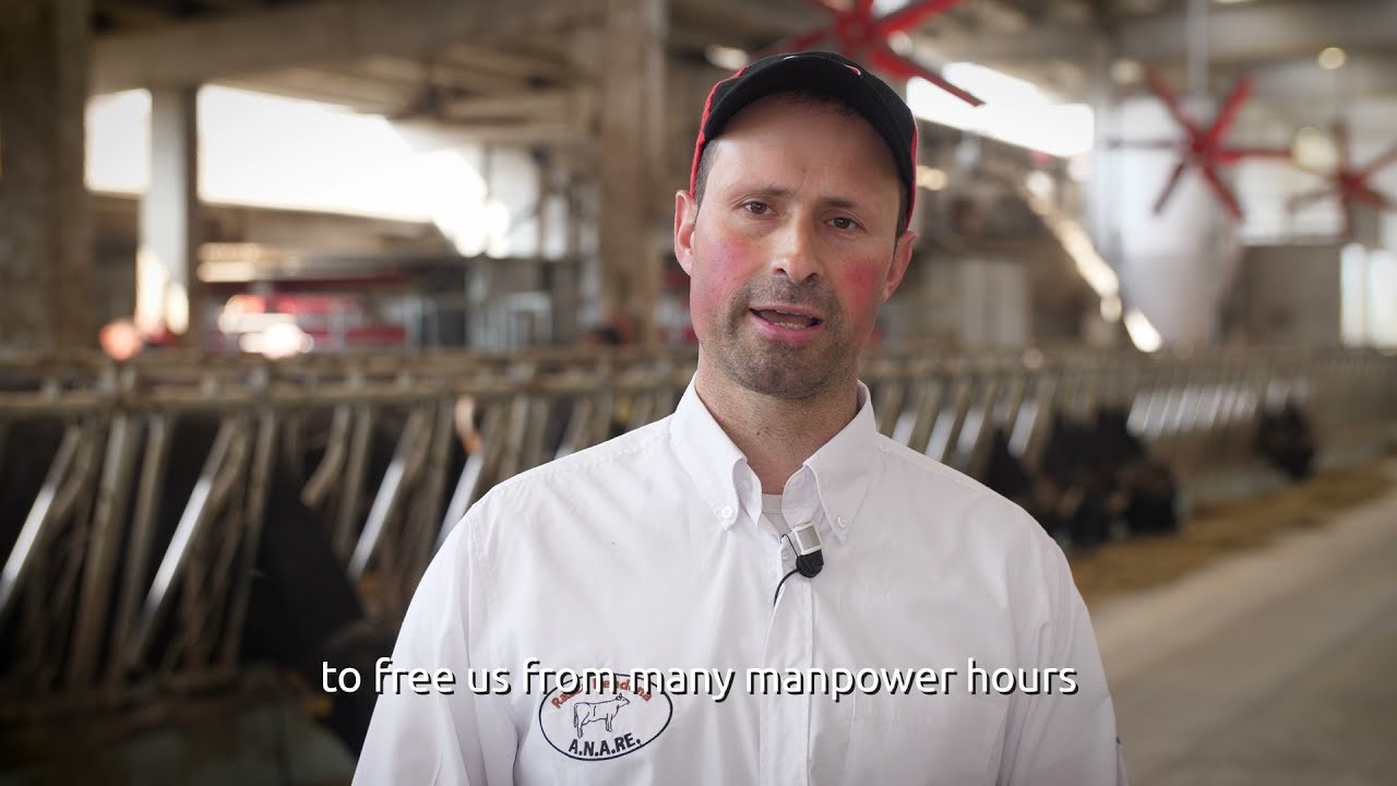 1000th Lely Vector feeding robot at Società Agricola Rendena San Michele's dairy farm in Italy