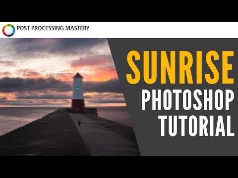 Sunrise Photoshop Tutorial: Seascape Photo Editing Walkthrough thumbnail