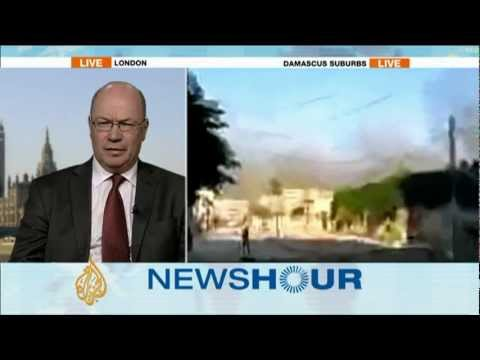 UK Foreign Office Minister Alistair Burt on the violence in Damascus