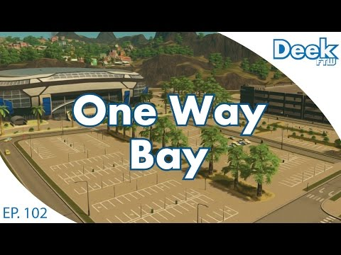 One Way Bay Ep. 102 - Our New Pro Football Team and Stadium - Free Match Day DLC - Cities Skylines