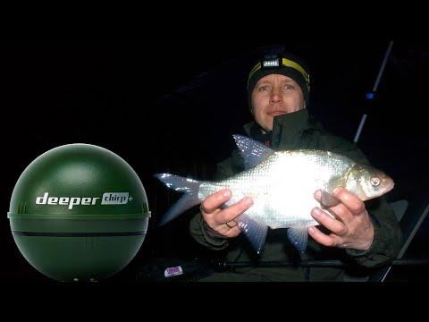 ЭХОЛОТ DEEPER CHIRP+. Ловля леща зимой на реке Северский донец.