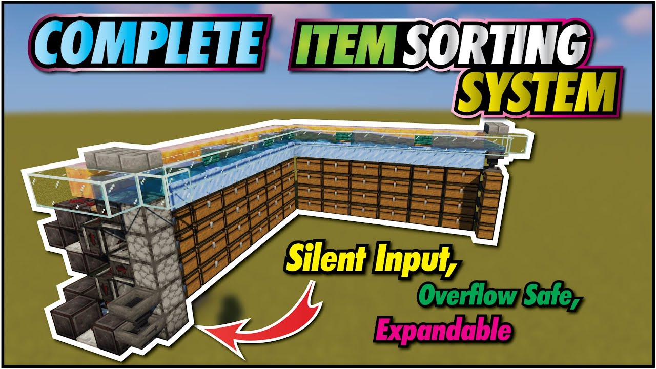 Minecraft Item Sorter | Easy Expandable, Upgradable Item Sorting System