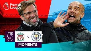 Liverpool V Manchester City | Top 5 Premier League Moments | Salah, De Bruyne, Sterling