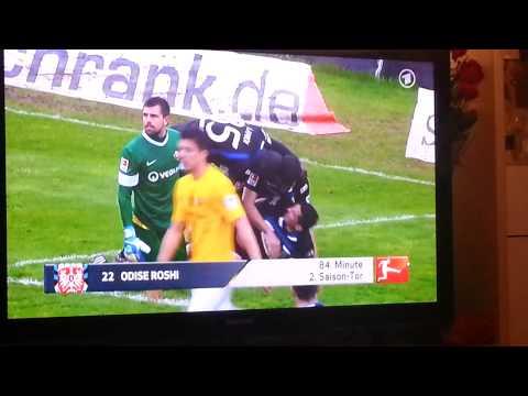 Odise Roshi Gol nga Shqiptari  Tor Albania Fsv Frankfurt -Dynamo Dresden Albanian Ratkoceri