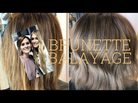 BRUNETTE BALAYAGE ON SHORT HAIR| CLIENT VISITS FROM SWITZERLAND