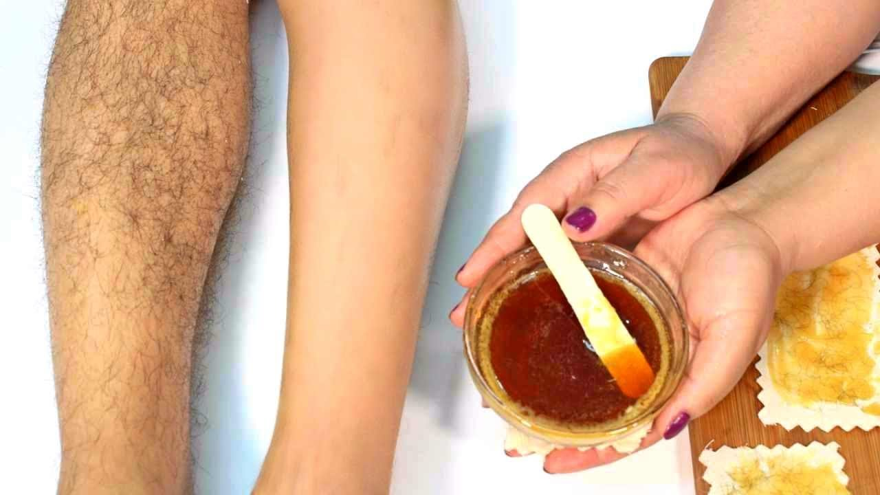 Homemade bikini wax beeswax honey
